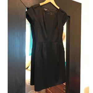 Bebe Black Satin Mini Dress